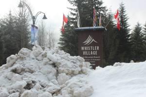 whistler sign snow