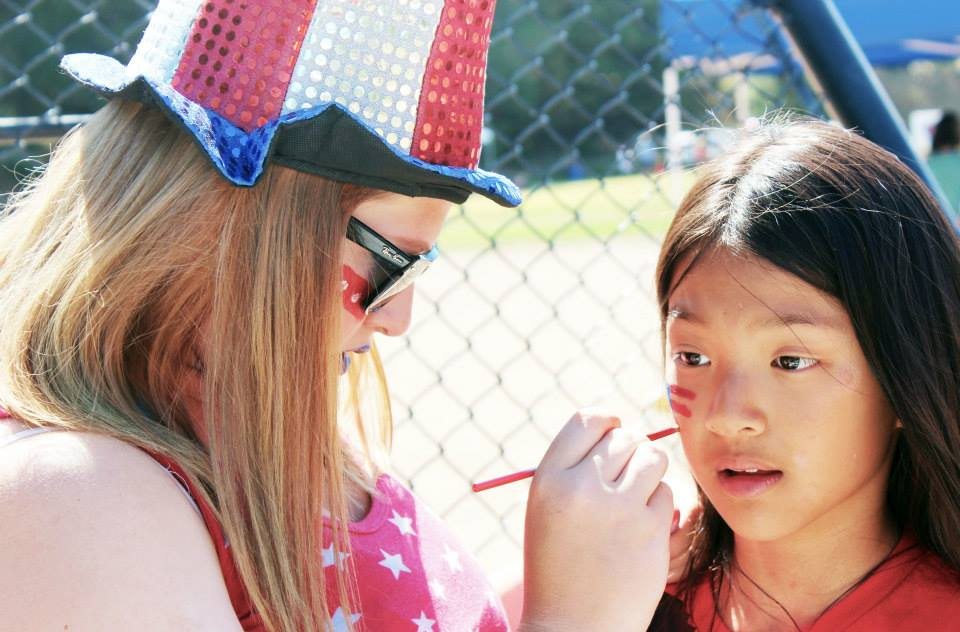 camp america face paint